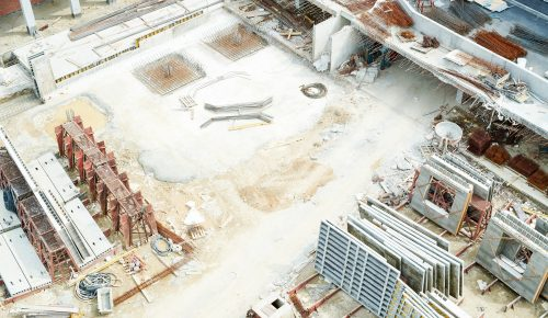 View of construction site